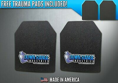 AR500 Level III 3 Body Armor Plates Pair - Curved 10x12 SHIPS FAST