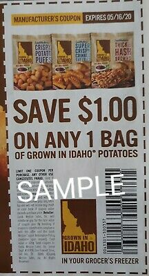 10 Manufacturers Coupons 11 ANY GROWN IN IDAHO POTATOES expires 51620