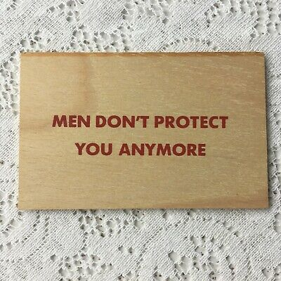 JENNY HOLZER  TRUISM POSTCARD MEN DONT PROTECT YOU ANYMORE