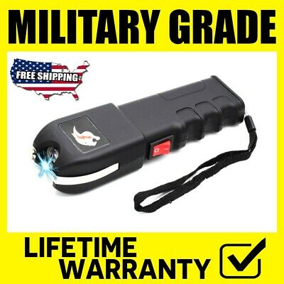 Military Stun Gun Maximum Power Rechargeable With Bright Flashlight