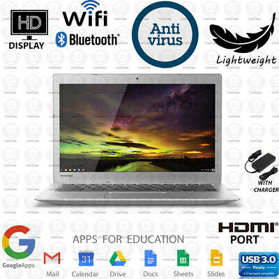 Toshiba Chromebook 13-3 in Students Laptop Computer Dual Core SSD WiFi HDMI
