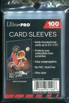 Ultra PRO 2-58 x 3-58 inch Soft Card Sleeves Clear - 100 Pack - Free Shipping