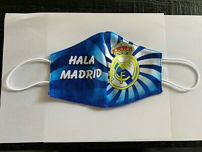 real madrid hala mask  handmade washable reusable mouth and nose cover