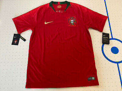 Nike 2018 Portugal World Cup Home Soccer Jersey Red 893877-687 Mens Size Medium