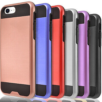 For iPhone SE 2020 Case Dual Layer Hybrid Shockproof - Tempered Glass Protector