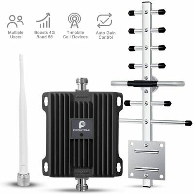 3G 4G LTE 1700MHz Mobile Cell Phone Signal Booster Band 66 - Band 4 Repeater Kit