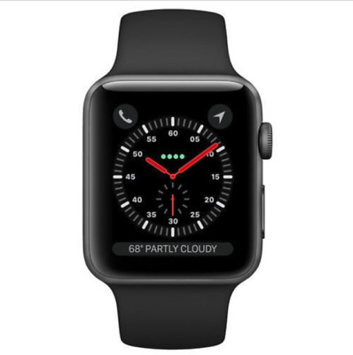 Apple Watch Series 3 GPS 42mm Space Gray Aluminum Case Black SPORT BAND C GRADE