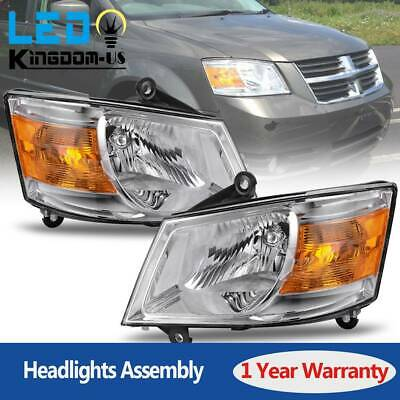 Headlights Headlamps Assembly For 2008 2009 2010 Dodge Grand Caravan Lamp Pair