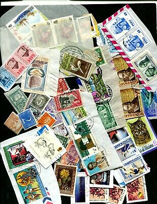 worldwide foreign mixture lot kiloware 12 ozs mint used on and off paper