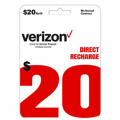 VERIZON Prepaid 20 Refill Top-Up  DIRECT RECHARGE