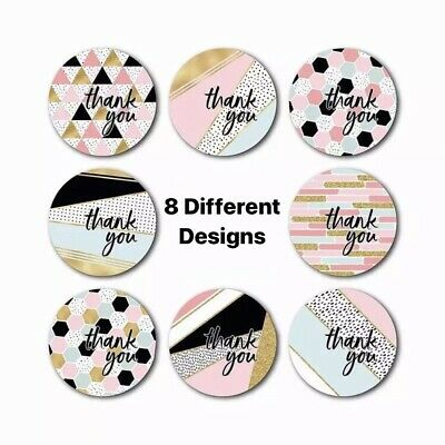 100 Assorted 1 Inch Thank You Stickers