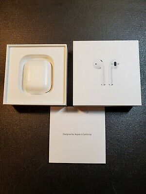 Apple airpods 2nd generation with wireless charging case pre-owned certified