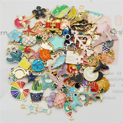 20pcspack Enamel Mixed Random Send Alloy Pendant Charms Jewelry DIY Accessories