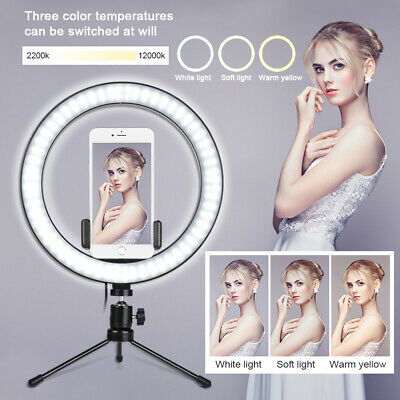 10 LED Ring Light Camera Lamp-8 Tripod Stand Phone Holder For Video Live