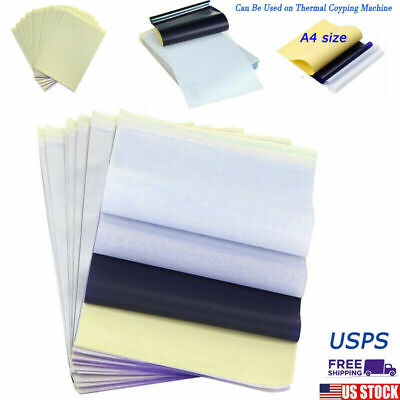 25Pcs Tattoo Transfer Paper Stencil Carbon Thermal Tracing Hectograph US