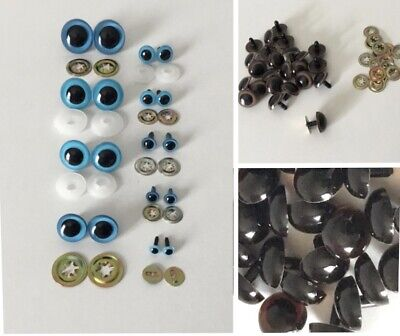 PLASTIC SAFETY EYES for Teddy Bears Stuffed Animals Puppets Crafts