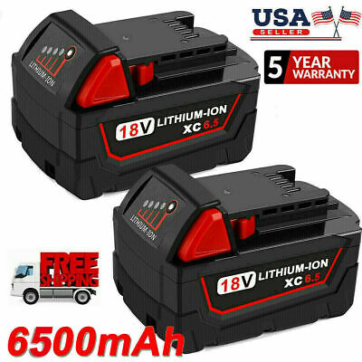 2Pack For Milwaukee M18 Lithium XC 6-0Ah Extended Capacity Battery 48-11-1860