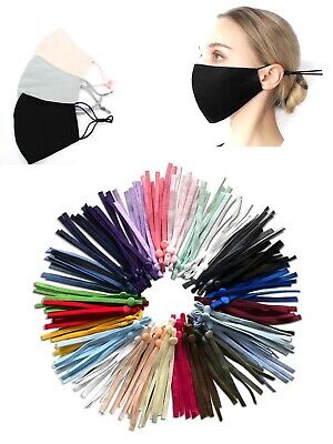 100 DIY Mask Sewing Elastic Band with Adjustable Buckle-