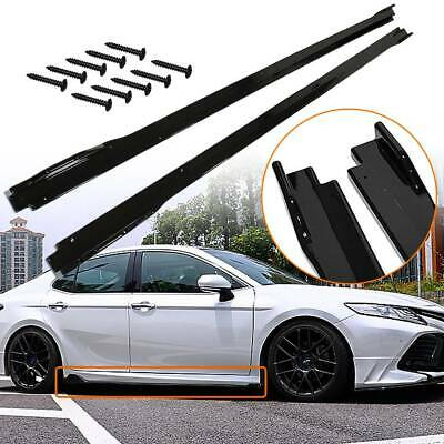 2X Gloss Black Side Body Skirts Extensions For 2018 2019 2020 Toyota Camry 18 19