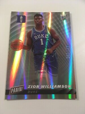 2019 Zion Williamson PANINI CYBER MONDAY ROOKIE PARALLEL Refractor 036199 RC