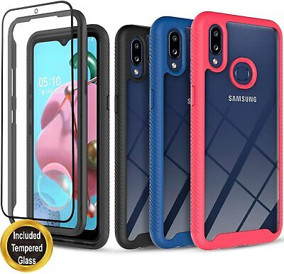 For Samsung Galaxy A10S A10E A20 A20S Case  Cover - Tempered Glass Protector