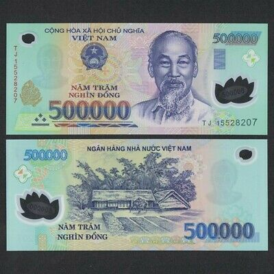1000000 VIETNAMESE DONG CURRENCY VND - 2 500000 Banknotes - FAST DELIVERY