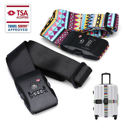 CarryOn 2m Adjustable Luggage Strap without a Built-in TSA Combination Lock US