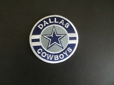 DALLAS COWBOYS SILVER - BLUE EMBROIDERED IRON ON PATCHES  3 X 3