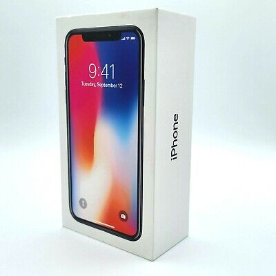 iPhone X Space Gray 64GB Original Apple Retail Packaging Genuine Empty Box