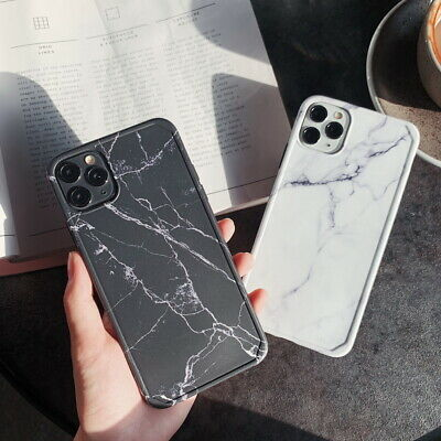 For iPhone11 Pro Max XS XR 8 7 6 Plus Marble Shockproof Bumper Phone Case Cover