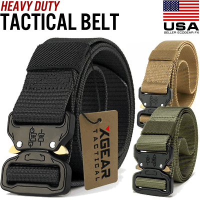 Mens Military Tactical Belt Heavy Duty Army Combat Waistband Rescue Rigger Belts