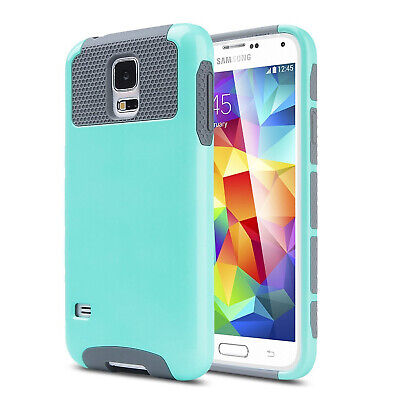 For Samsung Galaxy S5 Case Dual Layer Shockproof - Tempered Glass Protector