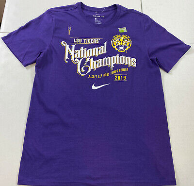 Nike LSU Tigers 2019 College Football National Champions Shirt Men's Size Large