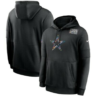 Dallas Cowboys Nike Crucial Catch Sideline Performance Pullover Hoodie - Black