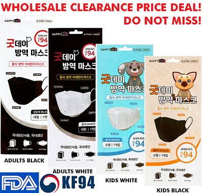 10PCS KF94 Face Mask Made in Korea Medical Respirators Protective Cover Good Day