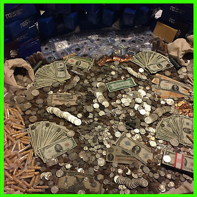 ✯ESTATE LOT OLD US COINS ✯GOLD -999 SILVER BARS BULLION✯ MONEY HOARD PCGS OLD✯
