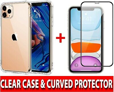 CLEAR Case - Tempered Glass SCREEN PROTECTOR For Apple iPhone 12MiniPro Max