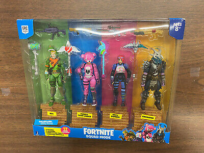 Jazwares Fortnite Squad Mode 4 Figure Pack Rex Cuddle Brite And Ragnarok NEW