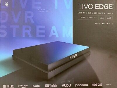 NEW TiVo Edge Live TV  DVR Streaming Player for CABLE 6 Tuners 2TB
