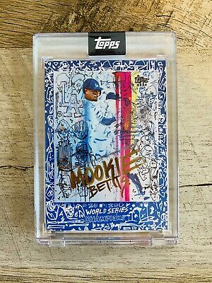 MOOKIE BETTS Los Angeles Dodgers Topps x Gregory Siff 2020 World Series Card 1