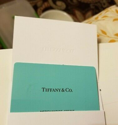 172-80 Tiffany - Co- Gift Card with receipt