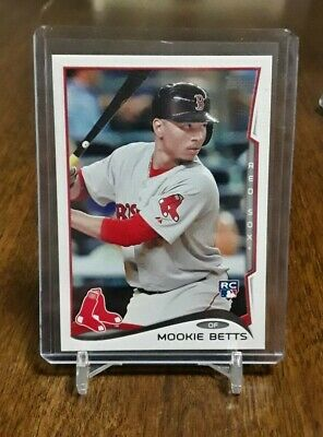 2014 Topps Mookie Betts Rookie Card US-26 Boston Red SoxLA Dodgers