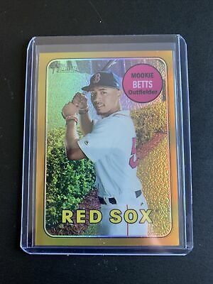 2018 Topps Heritage Mookie Betts Gold Refractor 25 Wow