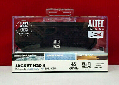 ALTEC LANSING JACKET H20 4 Rugged Bluetooth Speaker Black IMW449N-BLKC-WM New