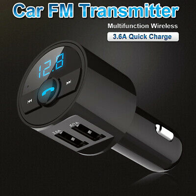 3-6A Wireless Bluetooth Car Dual USB Charger FM Transmitter Radio Adapter MP3 US