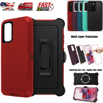 For Samsung Galaxy S20- FE Ultra 5G Case Shockproof Heavy Duty Belt Clip Cover