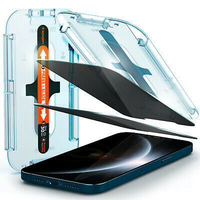 iPhone 12 12 Mini 12 Pro Max Screen Protector  Spigen®GLAS-tR EZ FIT Privacy