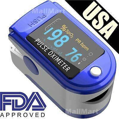 Pulse Oximeter Fingertip Blood Oxygen SpO2 Monitor PR PI heart rate FDA Oximetro