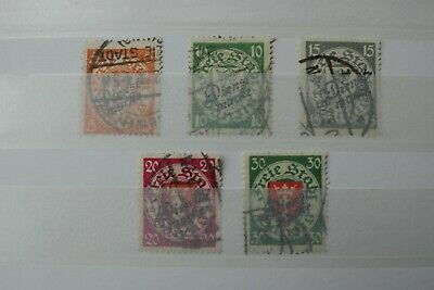 Germany Stamps - Danzig Overprints - Small Collection - E16