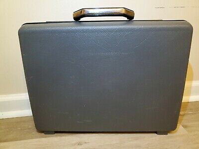 Samsonite Broker GL 1985 Hard Shell Gray Briefcase With Key
